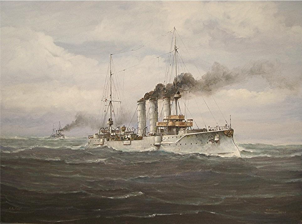 Marine Kriegsschiffe 2.WK Kreuzer Leipzig Glückwunsch Ostern